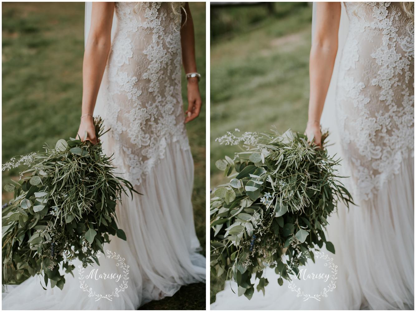 bukiet z liści eukaliptusa