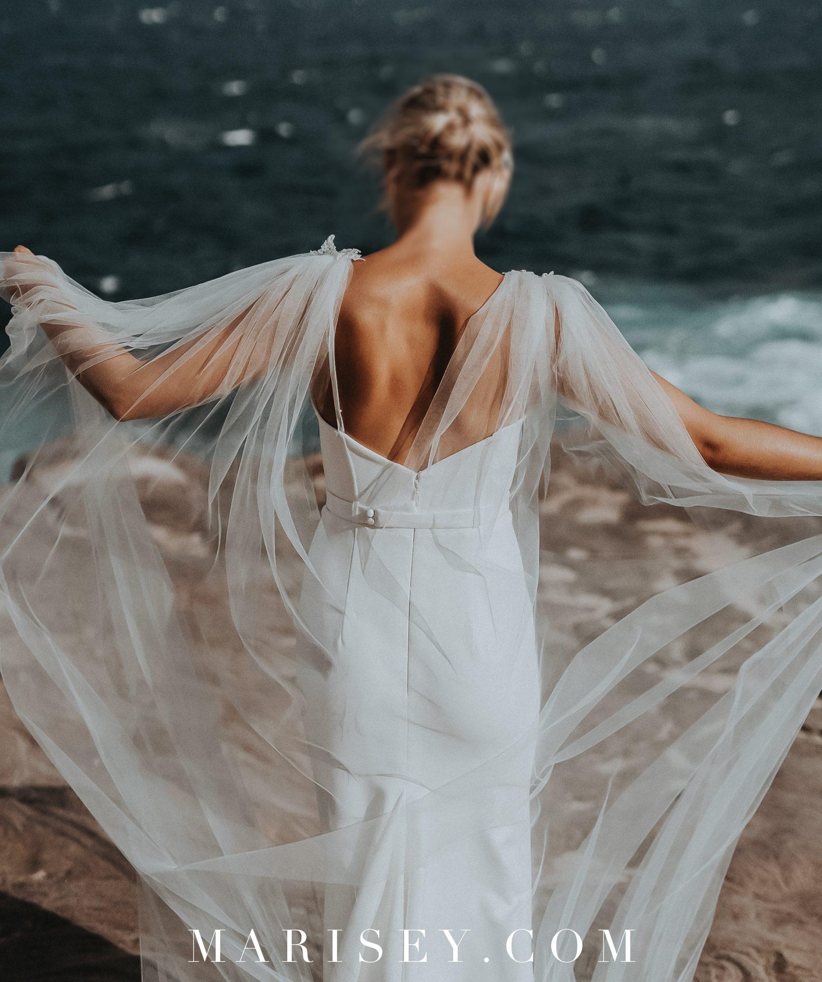 tiulowa peleryna do sukni