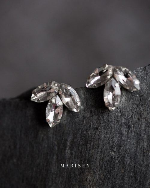 Ślubne kolczyki z kryształkami