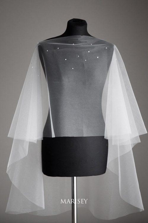 peleryna ślubna tiulowa Marisey