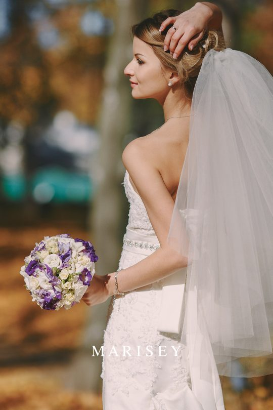 welon ślubny dwuwarstwowy