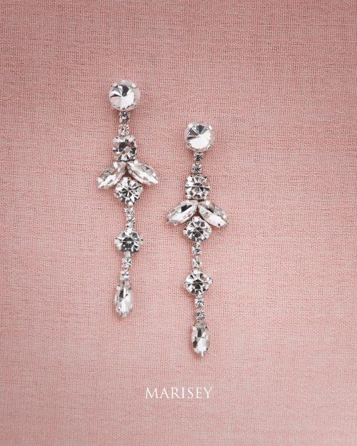 kolczyki ślubne wiszące długie Marisey